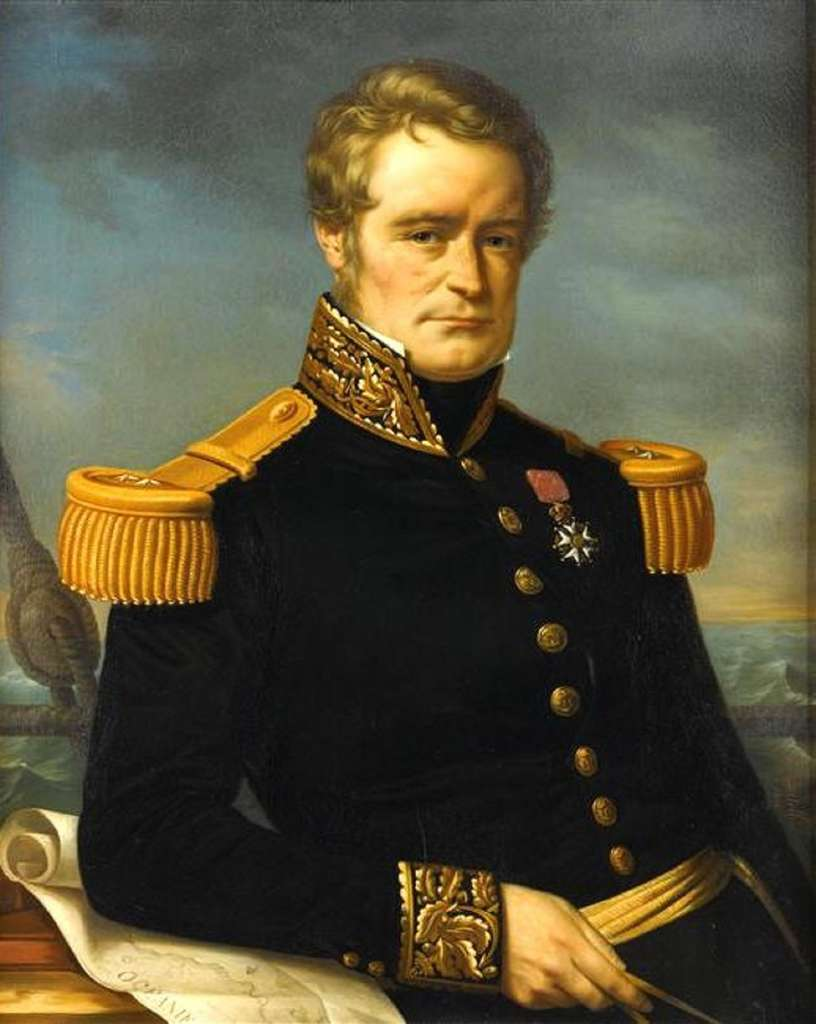 Portrait posthume de Jules Dumont d'Urville par Jérôme Cartellier en 1846 ; château de Versailles. © Wikimedia Commons, domaine public.