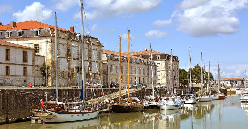 Rochefort se situe sur une boucle de la Charente. © Pline, CC by-sa 3.0