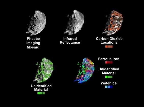Etude mineralogique de la surface de Phoebe