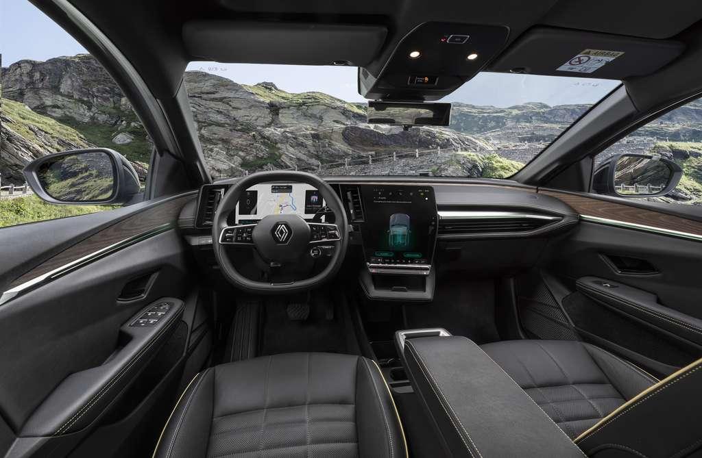 L'intérieur de la Mégane e-Tech Electric met l'accent sur les matériaux recyclés. © Renault