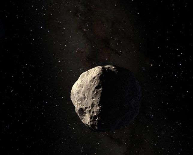 Apophis est un géocroiseur, c'est-à-dire que sa trajectoire autour du Soleil l'amène fréquemment à croiser celle de la Terre. À ce titre, ce rocher de plus de 300 m de diamètre est potentiellement dangereux, une perturbation gravitationnelle, même faible, pouvant l'amener sur une trajectoire de collision avec la Terre. © Esa