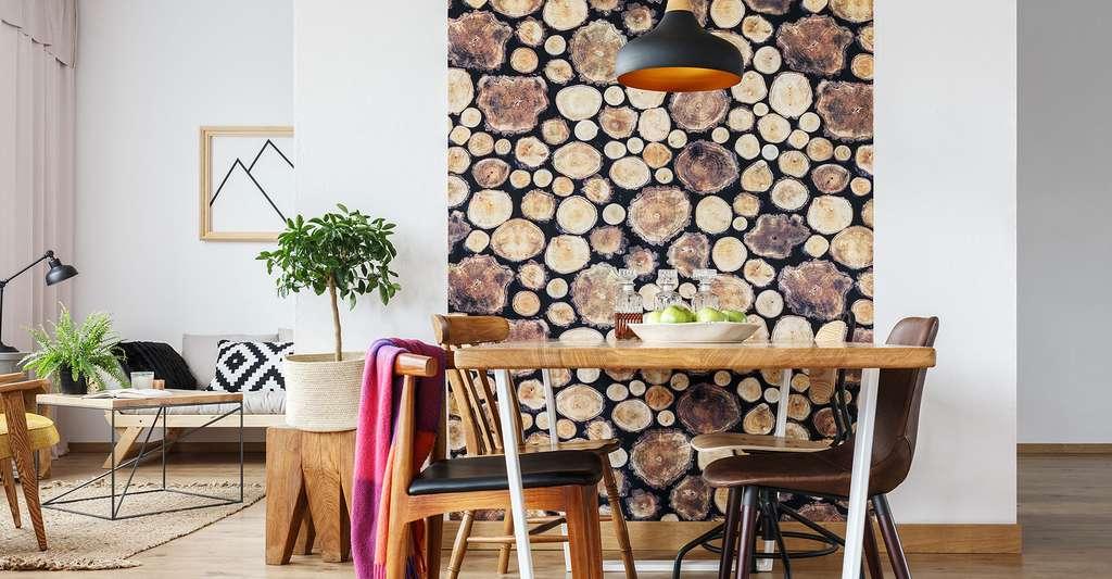Papier peint impression bois. © Photographee.eu, Fotolia