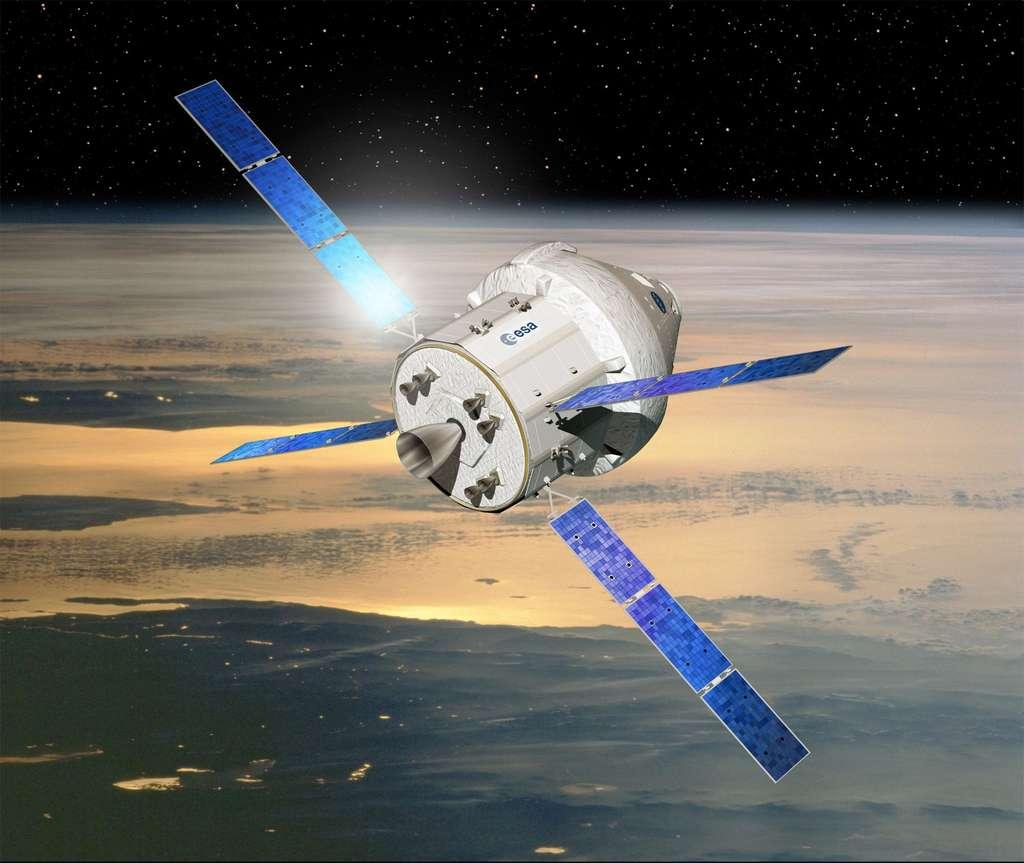 Le module de service du futur véhicule d'exploration spatiale de la Nasa sera construit par Airbus Defence & Space. Il sera financé par l'Esa à hauteur de 450 millions de dollars. Cette somme correspond à la contrepartie du loyer dont l'Esa doit s'acquitter auprès de la Nasa pour la période 2017-2020. Cela se fait dans le cadre du barter element, un système mis en place par les partenaires de l'ISS où chacun finance sa part de l'utilisation par la fourniture d'un service du même montant que sa contribution. Jusqu'en 2017, l'Esa s'acquittait de ses charges avec les missions de l'ATV et l'utilisation de Columbus. © Esa, D. Ducros
