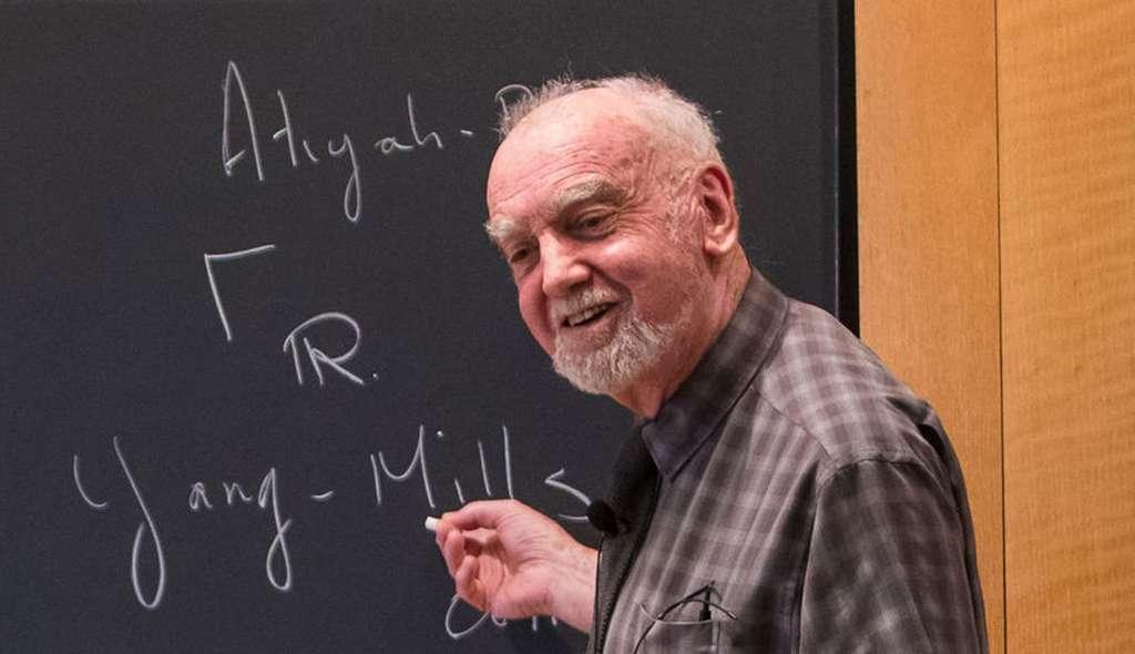 Robert Langlands en plein exposé. © Académie norvégienne des sciences et des lettres