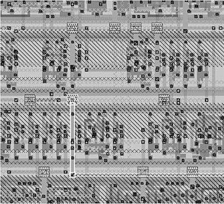 Partie supérieure de la même section, montrant les points de connexion. Crédit MIT