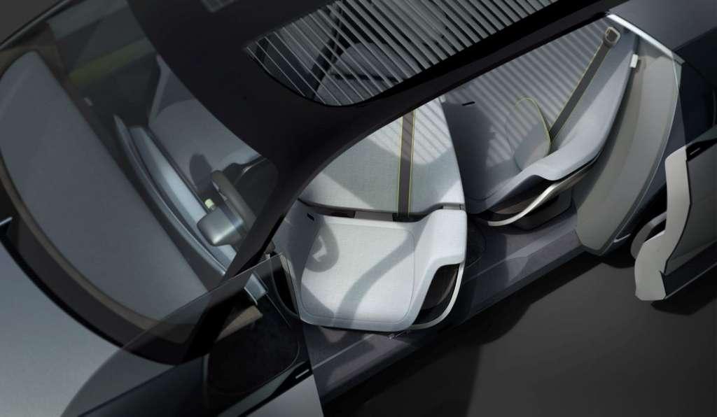 Pour créer une atmosphère chaleureuse, l'habitacle associe le bois, le tissu et le cuir. © Hyundai
