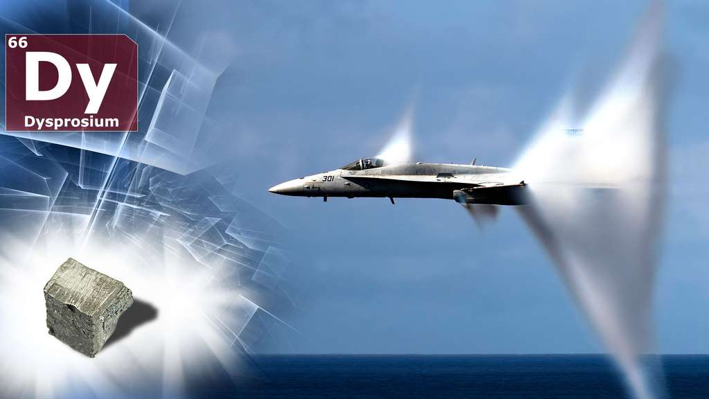 Le dysprosium et son utilisation en aéronautique