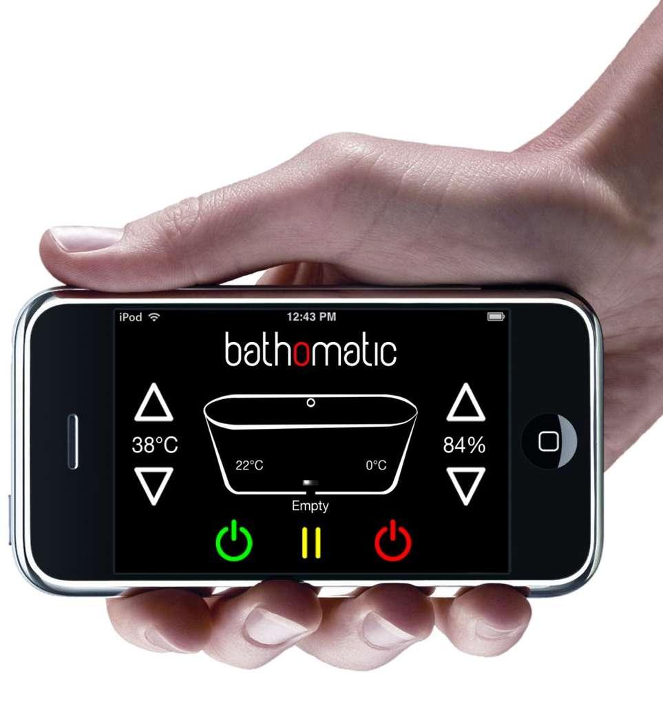 La télécommande Bathomatic prépare le bain à distance... © Bath-o-matic