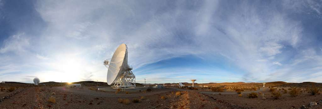 Les stations sol du Centre de communications spatiales longues distances de Goldstone. © Nasa