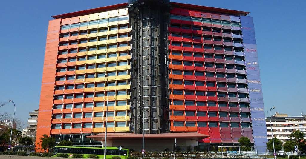 La façade de l'hôtel Silken Puerta América, à Madrid