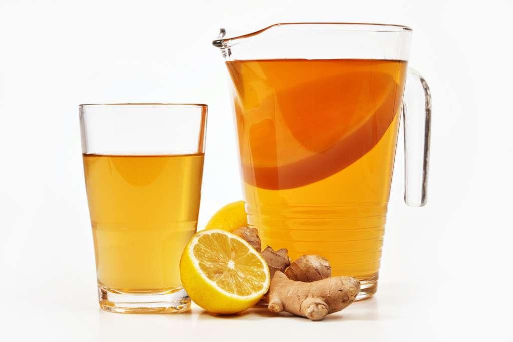 Le kombucha est une boisson pétillante à base de thé fermenté. © exclusive-design, Adobe Stock