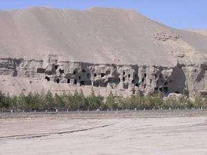 Les grottes des Mille Bouddhas à proximité de la ville chinoise de Dunhuang ont conservé pendant des siècles de très nombreux manuscrits. Crédit British Library