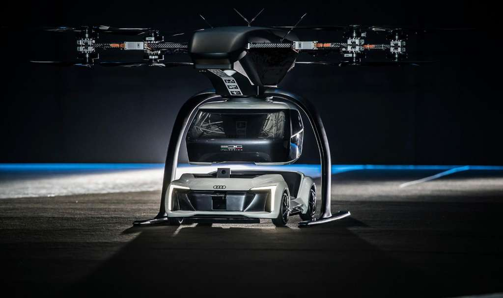 Le concept Pop.Up Next en action lors de l'Amsterdam Drone Week. © Italdesign