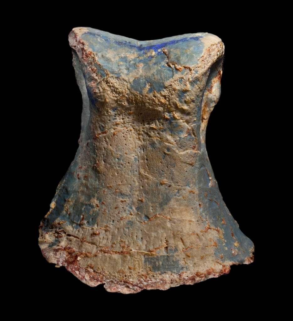 Morceau d'un os de l'orteil incrusté d'opale appartenant au dinosaure nouvellement décrit Fostoria dhimbangunma, découvert en Australie. © Robert A. Smith, courtesy of Australian Opal Centre
