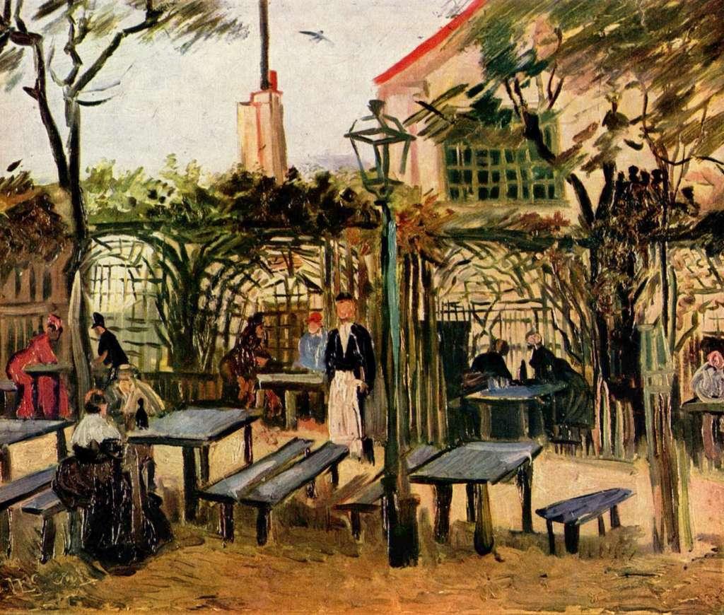 Tableau de Vincent Van Gogh : La guinguette, peint en 1886. Musée d'Orsay, Paris. © Wikimedia Commons, domaine public