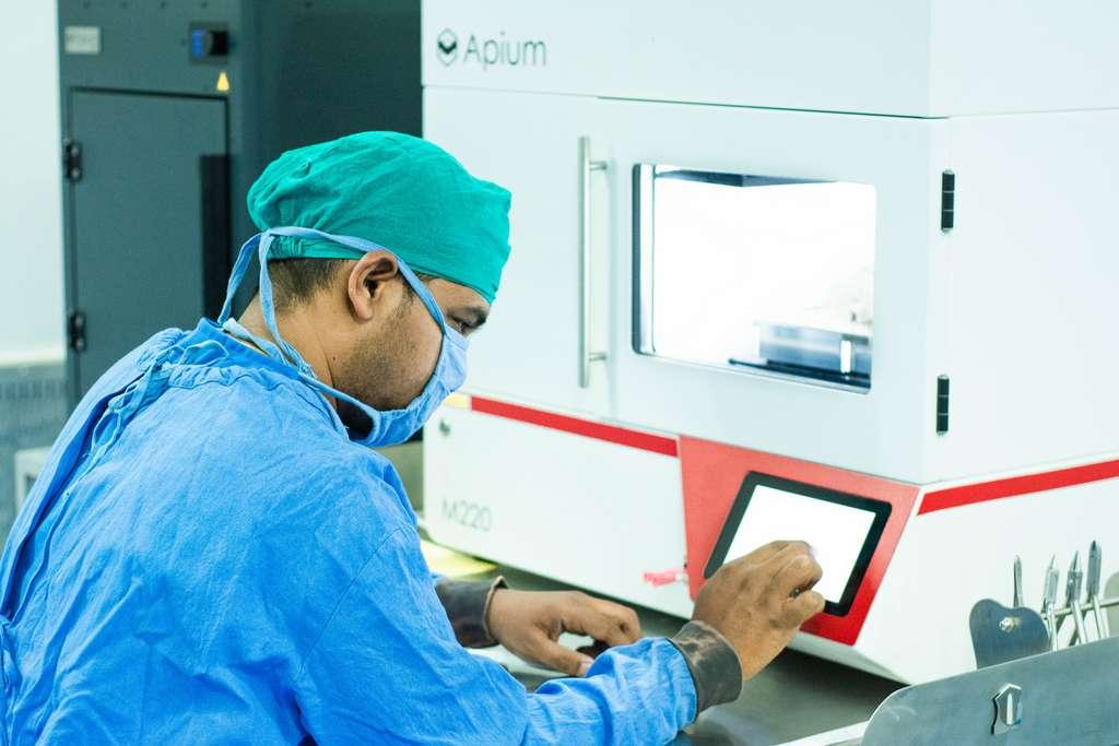 Finis les prélèvements osseux, grâce à l'impression 3D. © LUCID Implants
