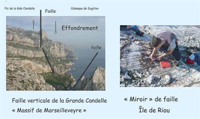 Figure 18. Calcaires et fractures du massif de Marseilleveyre, entre Marseille et Cassis, qui donne accès aux calanques. © J. Collina-Girard