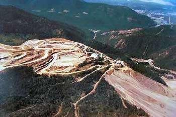 Mine de Libby dans le Montana (États-Unis). © U.S. EPA