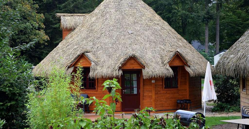 Différentes utilisations de la paille de seigle. Ici, pour couvrir un toit. © JACLOU-DL, Pixabay, DP