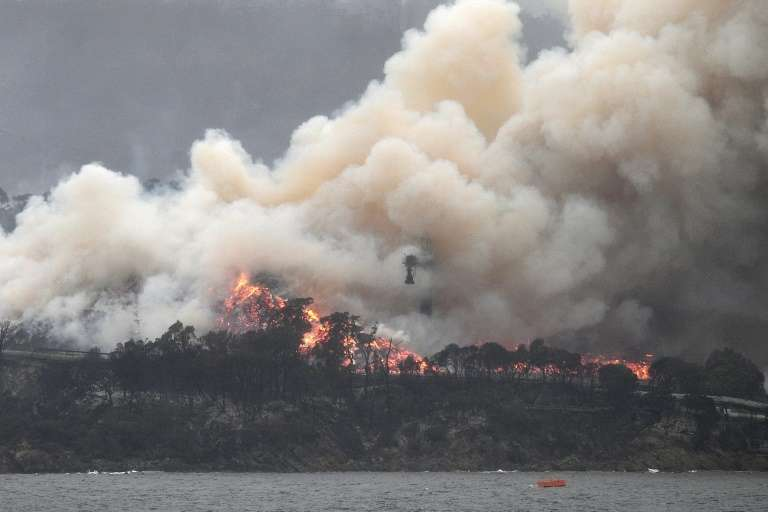 Incendies de forêts à Eden, en Australie, le 6 janvier 2020. © Saeed Khan, AFP, Archives