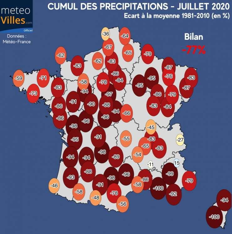 Des précipitations en chute sur le territoire français. © Météo-France, tous droits réservés