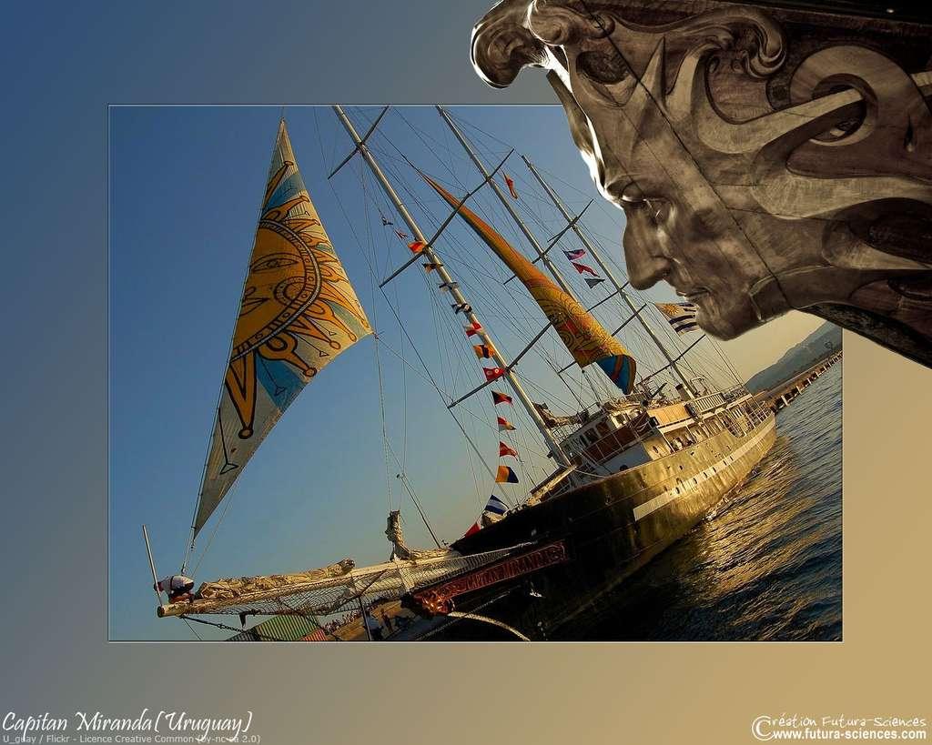 Le Capitan Miranda, un bateau aux couleurs de l'Uruguay