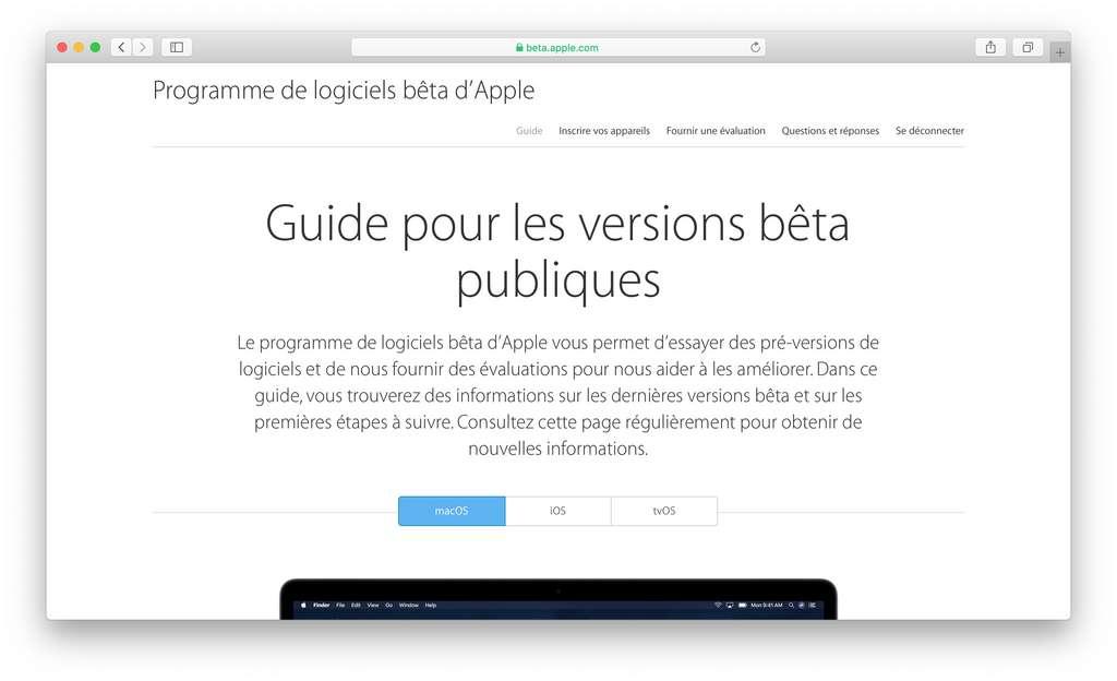 Le programme de logiciels bêta d'Apple permet d'inscrire votre Mac en quelques clics. © SR/Futura