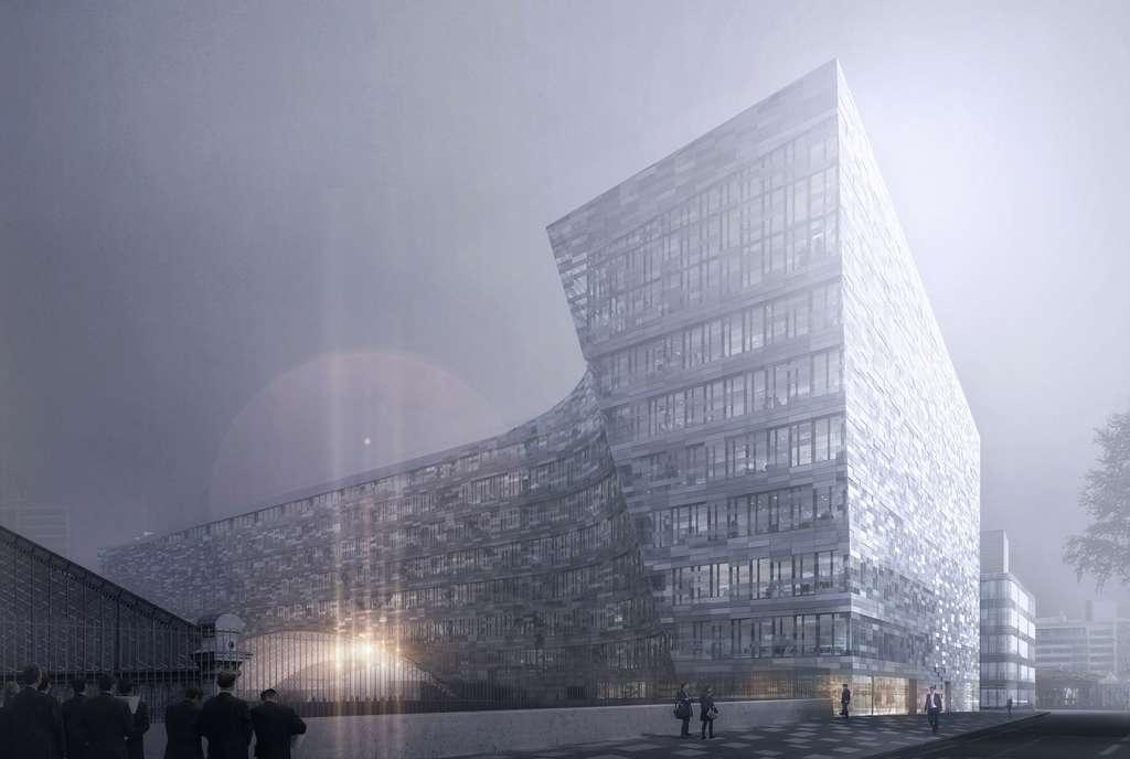 Le nouvel siège du groupe Le Monde regroupera les différentes rédactions. © Snøhetta