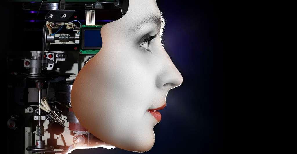 Qu'est-ce qu'un agent conversationnel ? Ici, une femme cyborg. © Olga Nikonova, Shutterstock