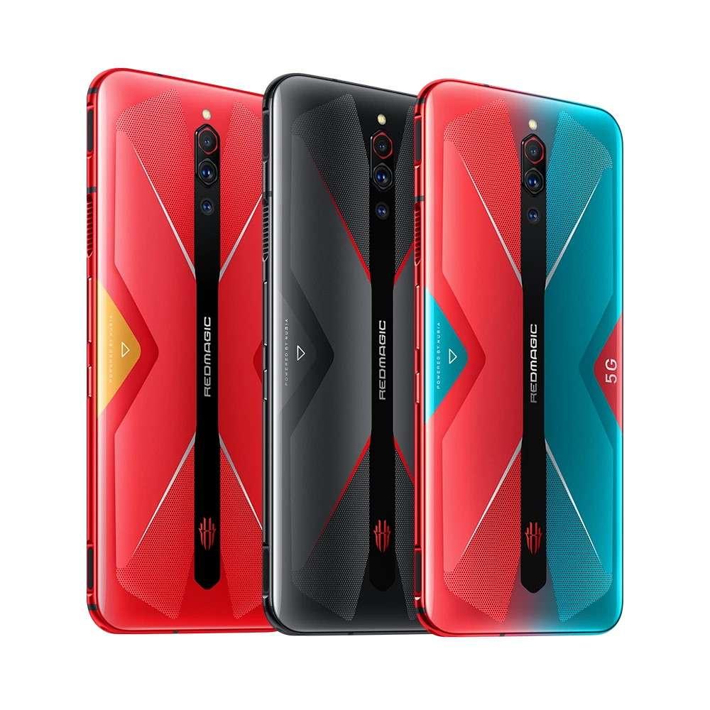 Le Nubia Red Magic 5G est disponible en trois coloris, dont deux très vifs. © Nubia