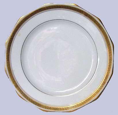 Filet d'or d'une assiette de Limoges.