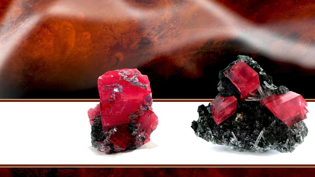 La fluorite, le quartz et la rhodochrosite
