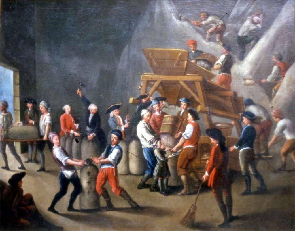Grenier à sel, XVIIIe siècle, anonyme. Musée national des douanes, Bordeaux. © Wikimedia Commons, domaine public.
