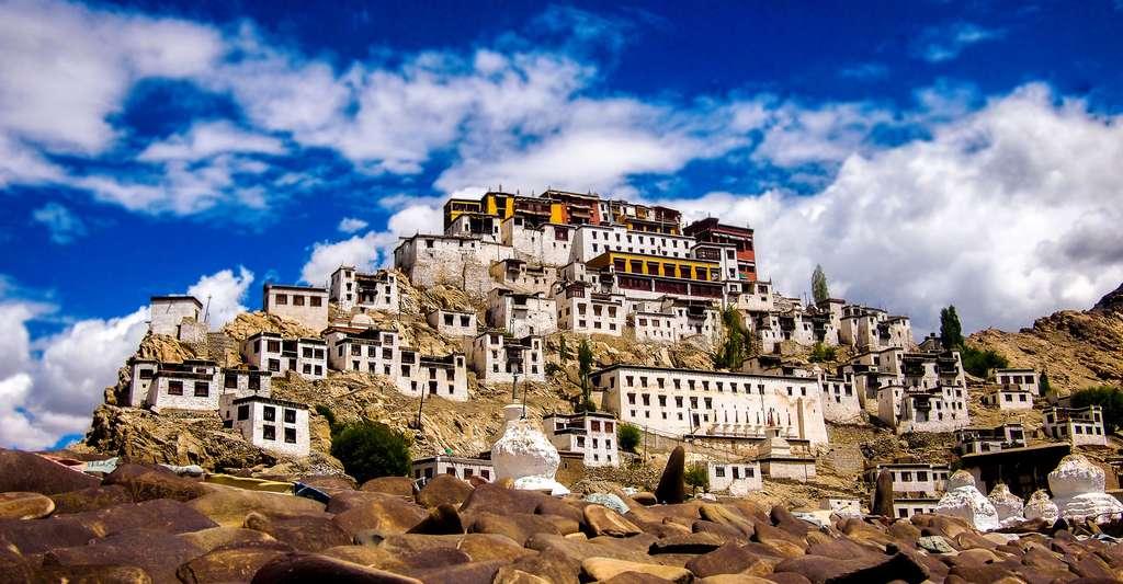 Vue du monastèreThiksey. © Caesardeka, Wikimedia commons, CC by-sa 3.0