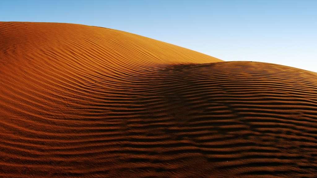 Arabie saoudite, le parcours de sable d'Abou Dhabi