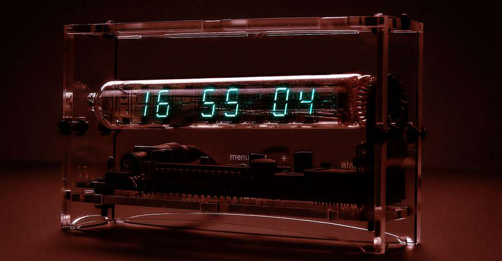 Horloge à base de LED. © Adafruit Industries, CC BY-NC 2.0