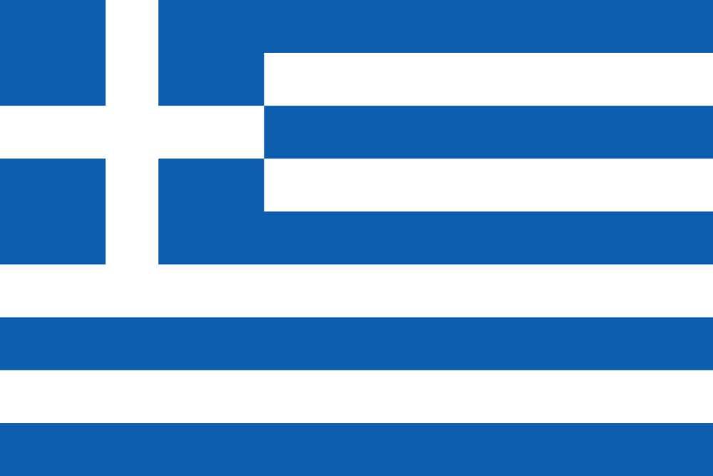 Le drapeau grec. La croix blanche rappelle la foi chrétienne et la victoire sur l'occupant. Les bandes bleues pourraient symboliser les cinq mers qui entourent la Grèce. Quant aux bandes blanches, elles pourraient représenter les fustanelles, les robes traditionnelles des combattants. © Fry1989, Wikimedia Commons, DP