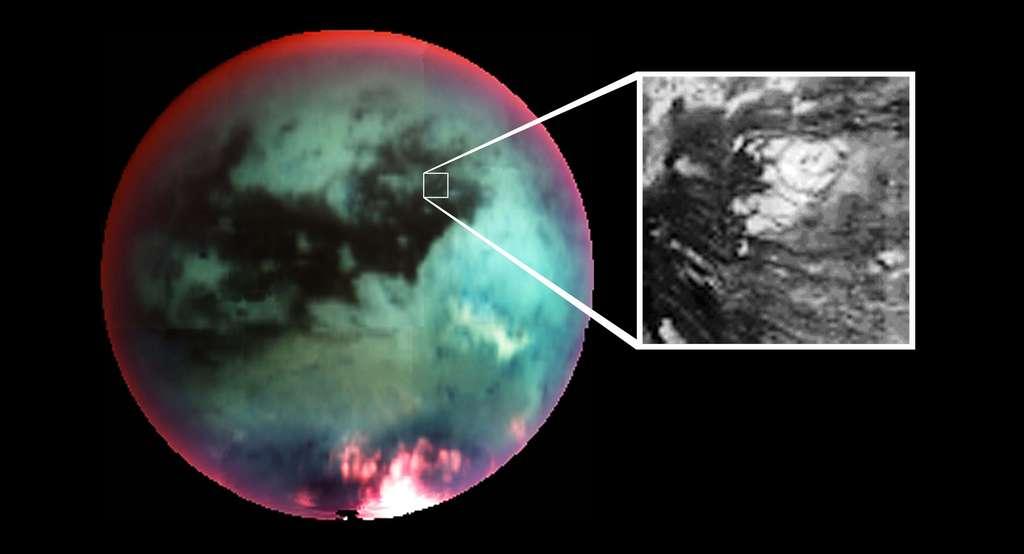 Zoom cryovolcan de Titan