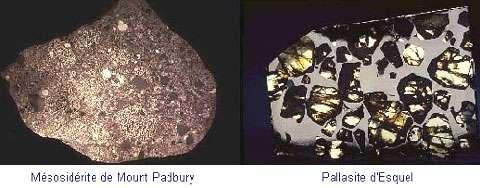 Des météorites mixtes. © Documents NMNH