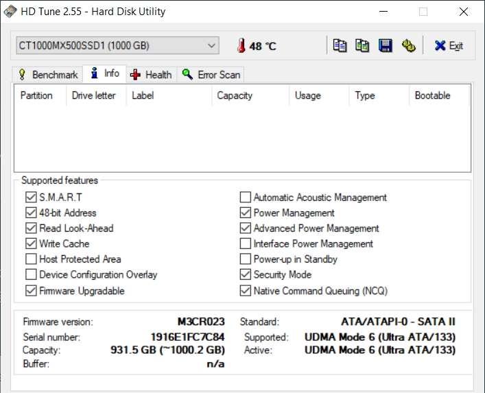 L'onglet Info donne les caractéristiques essentielles et les fonctionnalités supportées. © EFD Software