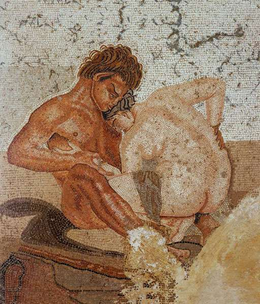 Pompéi, fresque dans la Maison du Faune. © Naples, Musée national archéologique, Dunod