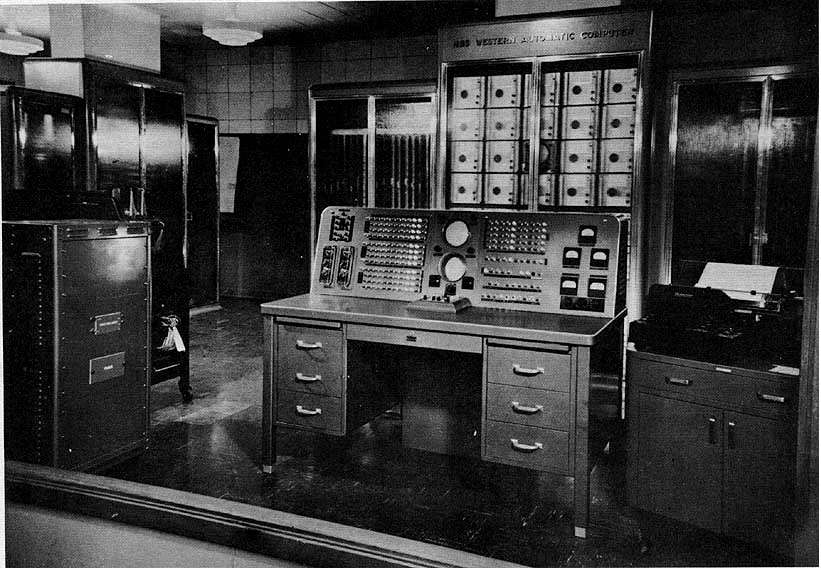 Le Swac (Standards Western Automatic Computer) permit de prouver la primalité de M521, M607, M1279, M2203 et M2281 en 1952. © DP