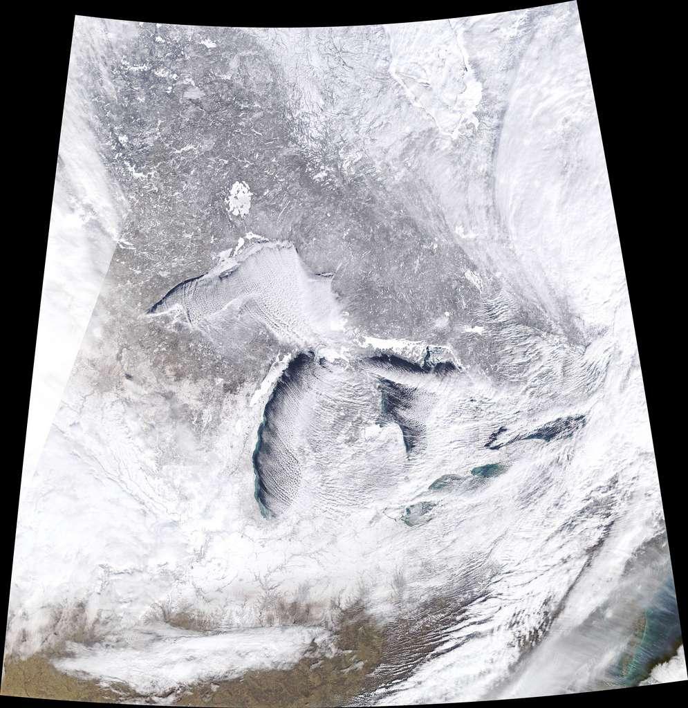 La région des Grands Lacs vue le 27 janvier 2019 par le satellite Terra de la Nasa. © Nasa Earth Observatory/Joshua Stevens
