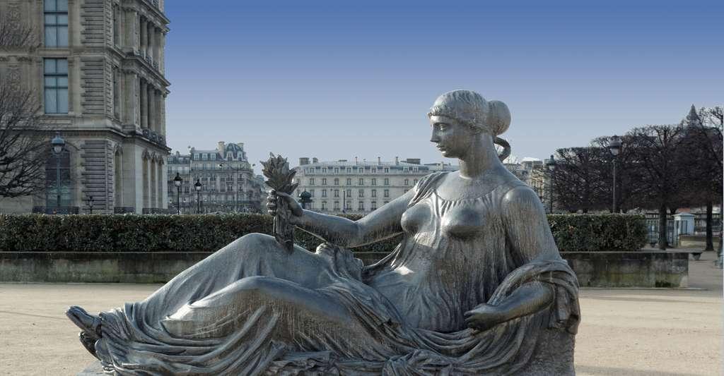 Statue en plomb de A. Maillot, Jardin des Tuileries. © Coyau - CC BY-SA 3.0