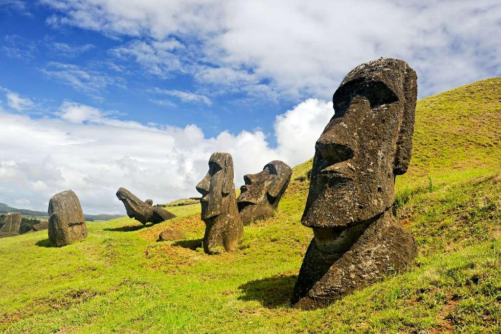 La construction et le transport des moaï par les Rapa Nui ont longtemps été une source d'interrogations pour les scientifiques. © Amy Nichole Harris, Adobe Stock
