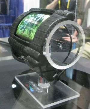 A quoi pourrait servir un écran souple ? Par exemple à le porter en bracelet. © TechOn / UDC / LG Display