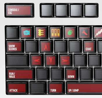 Clavier Optimus - Quake © Art Lebedev