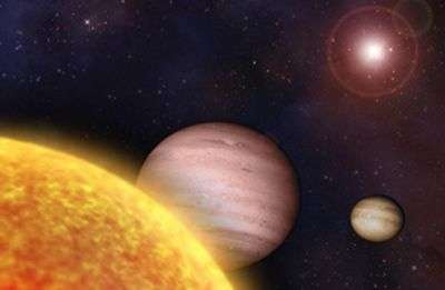 Vue d'artiste des deux planètes extrasolaires. Crédit Université d'état de l'Ohio