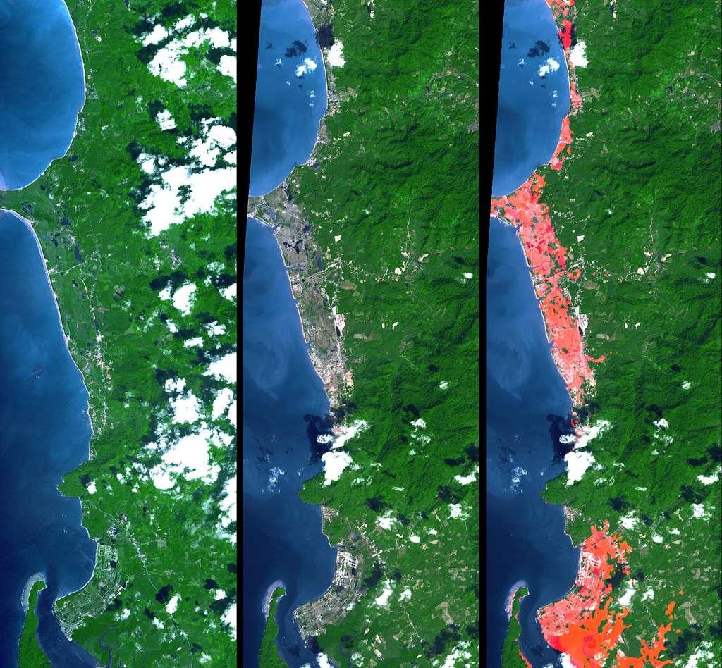 Images satellites de l'île de Phuket