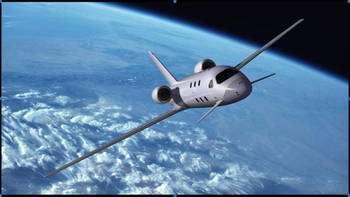 Avion Suborbital d'EADS Astrium. Vision d'artiste. © EADS